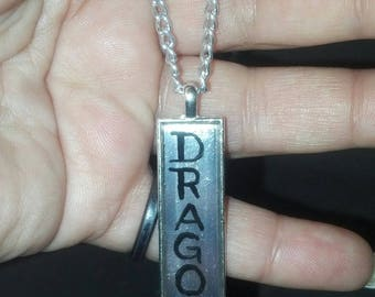 "Hand painted ""Dragon <3"" Necklace"