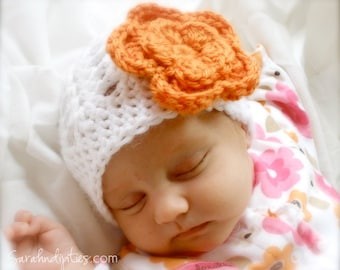 Crochet Baby Shell Beanie Hat - You Choose Colors