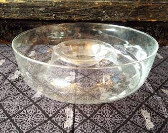 Princess House Chip & Dip Serving Platter ~ Vintage