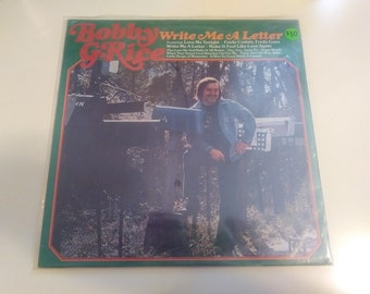 Bobby G. Rice - Write Me A Letter - Brand New Sealed Original Press GRT 8003 Record 1975 - Old Store Stock Country