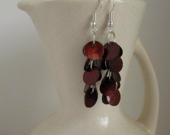 Rich and Earthy Brown Shell Dangle Earrings