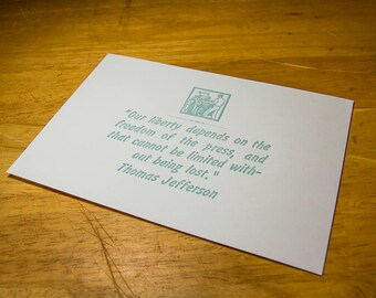 Freedom of The Press - Letterpress Card