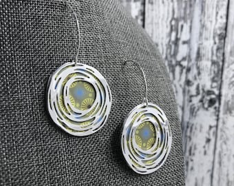 Recycled Tin Orbital Earrings