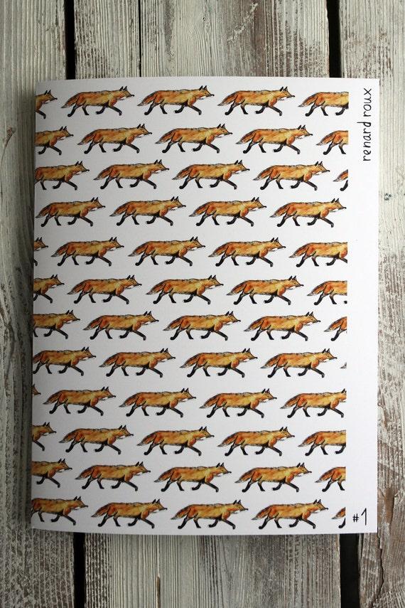 """School Style NOTEBOOK - little fox 7"""" X 9"""""""