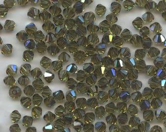 T4 5301 KX *** 30 bicone beads crystal Swarovski 4mm KHAKI AB