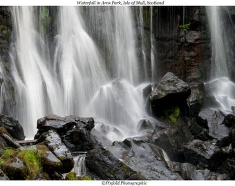 Photo print 'Waterfall in Aros Park, Isle of Mull, Scotland'