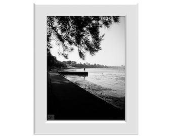 Digital Photo - Corio bay Geelong b+w