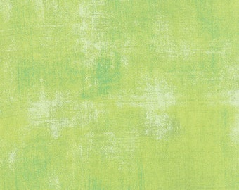 Moda Grunge Basics KEY LIME Green Mottled Background Fabric 30150-303 Fabric BTY 1 yd