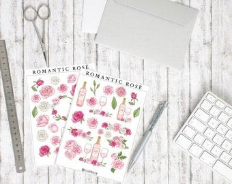 Sticker set Romantic Rosé