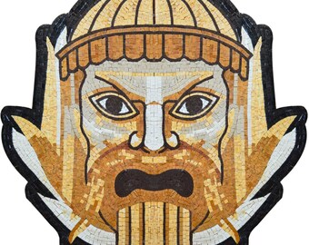 Illustrative Mosaic Zeus Handmade