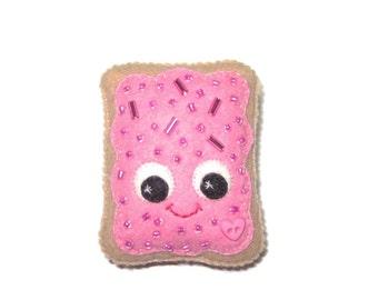 Pop Tart Brooch - Fairy Kei Pin - Kawaii brooch - Pink Poptart - Sprinkle Toaster Pastry - Kawaii Pins - Cute Food Gifts