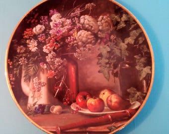 "Mosa Maastricht Porcelain Plate-Kees van den Berg classic Dutch still lifes ""Still Life field flowers"" ceramics Dutch"