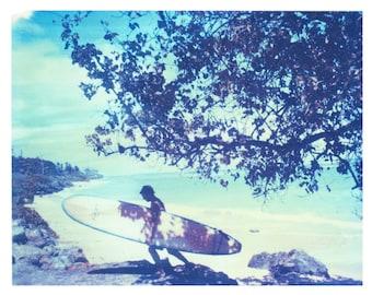 Photography Polaroid Hawaii Oahu Surfing Ocean North shore Matt Schwartz Print 8x10 inch image