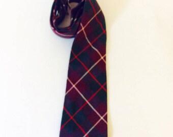Plaid Men's Tie Men's Uniform Necktie Scottish Design Scotland Pattern Tie Men's Accessories Red Wool Ties School Boy Attire Steampunk Plaid