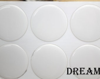 Round Clear Epoxy Stickers, Circle 3D Epoxy Dome Lens Stickers-40mm and 42mm