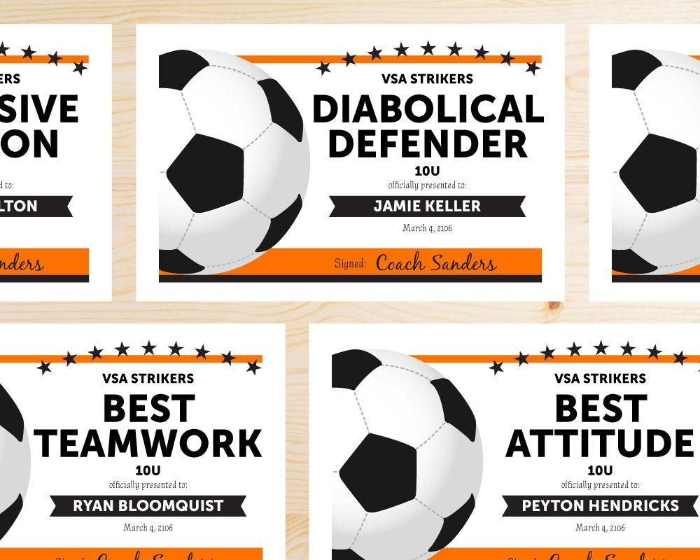 Printable Soccer Award Ukrandiffusion