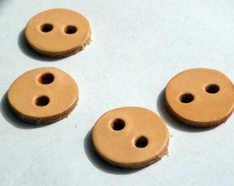 Button round leather clasp