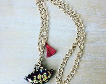 Sicilian Crow Necklace