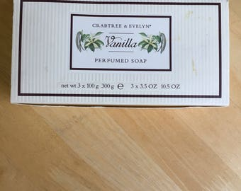 Crabtree & Evelyn Vanilla Perfumed Soap - 3 X 3.5 Ounce Bars