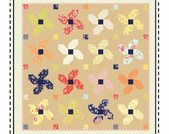 Fat Quarter Quilt Pattern - Posey Parade by Aunt Ems Quilts - Free Shipping US