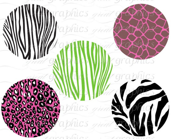 animal print circle clip art digital clipart circle tags set of 20 rh etsystudio com  leopard print heart clipart