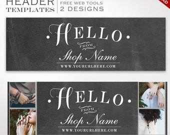 Twitter Header Template - DIY Chalkboard Twitter Cover Photo Template - Twitter Profile Image Twitter Header Photography SMTW AAA