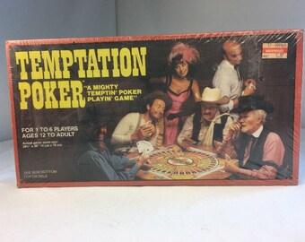1982 Vintage Temptation Poker Board Game