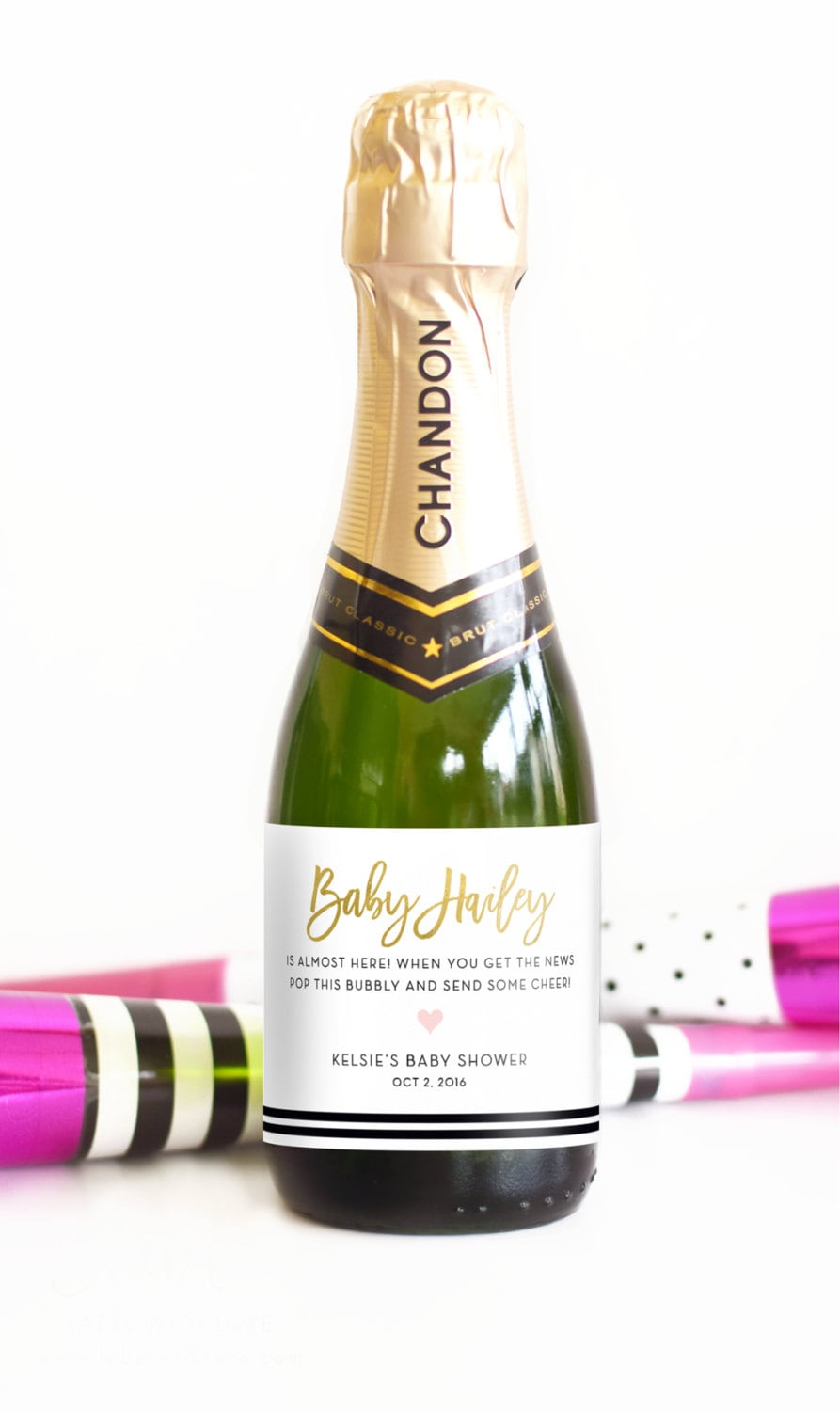 Baby Shower Mini Champagne Bottle Labels Pop When You Get