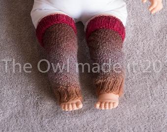 Newborn leg warmers Baby girl leg warmers Wool leg warmers Babywearing accessories Baby gift Baby shower UK seller