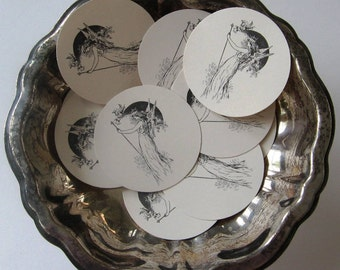 Fairy Tags Round Gift Tags Set of 10