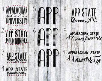 Appalachian State decals, college decals, App state decals, car decals, yeti decals, laptop decals, appalachian state, app state, decal