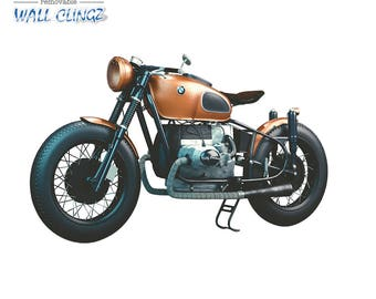 BMW Cafe Racer, Wall Graphic Decal, Man Cave Decor, Garage Wall Decor, Car Wall Stickers, Wall Decal, Wall Decals, BMW Cafe Racer
