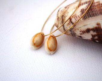 Shell Earrings Hawaiian Jewelry Beach Earrings Shell Jewelry Seashell Hawaii Jewelry Beach Jewelry Shell Hoops Sea Shells Hawaii Shells 030