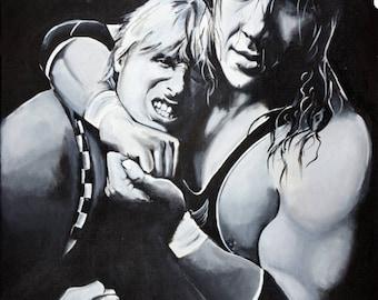 Bret and Owen Hart Print