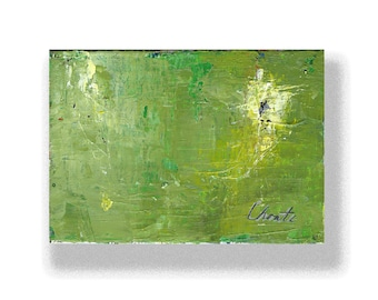 "Abstract Painting. ""Yellow Green Black"""