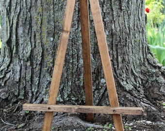 WEDDING EASEL TABLE Top Easel Rustic Wood Easel Knotty Pine Picture Frame  Holder Easel Display Wedding