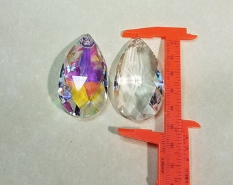 Asfour Lead Crystal 2 inch Drop Shaped - AB & Clear