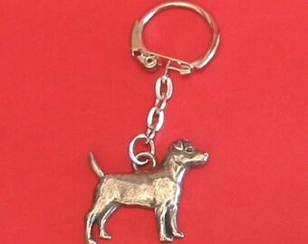 Patterdale Terrier Pewter Motif Key-Ring
