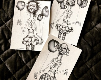 Matilda Interrupted Prints (each sold separately—not a set), drawing, paintings, watercolor, nuns, naughty, art, wall art, funny art