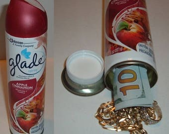 GLADE APPLE CINNAMON Air Freshener Can Safe stash hide cash money jewelry box diversion safe metal piggy bank