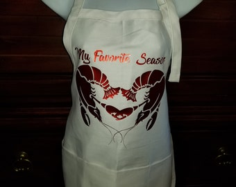 My Favorite Season, Crawfish time in the south, Every boiler needs one of these beautiful handmade Aprons.