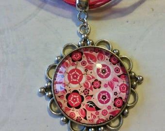 Pink Flower necklace