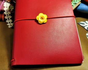 Leather Faux Dori, Regal Berry Red Leather Faux Dori, Travelers Notebook