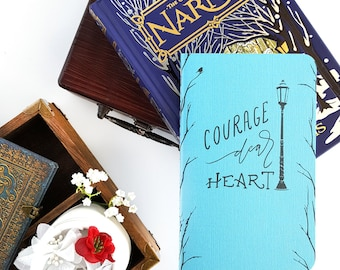 Courage Dear Heart Journal — Hand Lettered 80-page Notebook or Planner — Aslan, Narnia, CS Lewis