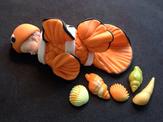 Fondant Baby Finding Nemo Cake Topper Baby Shower Birthday