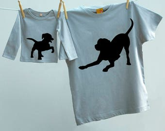Matching Father's Day Dog T shirt Twinset for Father and Son or Daughter