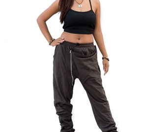 Harem Pants men women , Drop Crotch Pants, Hip Hop Pants