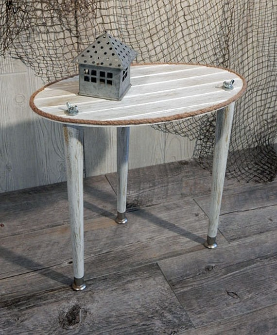 Small Side Table Patio Table Rustic Nautical End Table