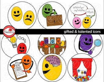 Gifted & Talented Icon Clipart: (300 dpi transparent png) School Teacher Clip Art LEAP Gifted Class