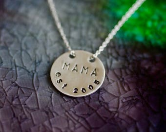 Mama Necklace - Silve Mom Gift - Mom Necklace - Mom Necklace - New Mom Gift - Mommy Necklace - Gifts For Mom - Mothers Day - Mama Jewelry